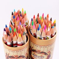 Wholesale 36 Set HOT Wooden Color Pencil Office Drawing Supplies Students Painting Pens World Map Pattern Package Nice Gifts for Kids Friends