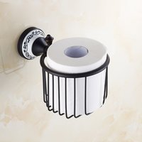 Wholesale European Style Toilet Paper Holder Bathroom Tissue Basket Oil Rubbed Toilet Roll Holder Bathroom Accessories
