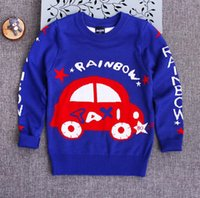 american cars brands - Children Sweaters For Autumn New Kids Clothing Children Boys Children car Pattern Knitting Sweater Pullover JF