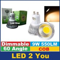 Wholesale Dimmable E27 E14 GU10 MR16 Led Bulbs Lights High Lumens cob W Led Spot Bulbs Lamp AC V V