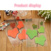 Wholesale 2016 Korea Stationery DIY Cute Mini Memo Paper Stickers Creative Leaves Stickey Note For Fashion Gift Home Office