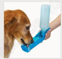 Wholesale 3 color LJJK385 ml Pet Dog Cat Water Feeding Drink Bottle Dispenser Travel Portable Foldable Plastic Feeding Bowl Travel Pet Water Bottle