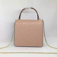 Wholesale genuine cowhide leather serpentine brand designer shoulder bag for women