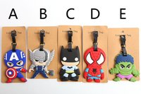 batman luggage - The new Q version of the hero alliance Captain America batman Spider man superhero series of luggage tag