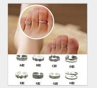 african christmas ornaments - Personalized fashion foot ornaments Retro print braided ring CM Ms beach barefoot joint ring Christmas jewelry E231