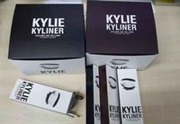 best black eyeliner - 1pc Dropshipping Kylie Cosmetics KYLINER Birthday Limited Edition Eyeliner Kit Dark Bronze Black color top quality best price DHL free