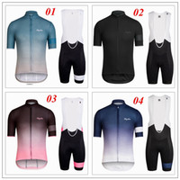 Wholesale 2016 Raph a Men Summer Cycling Jersey Set Short Sleeve With Cool Max Padded Pants High Elastic Road Bicycle Wear Close Fitting XS XL