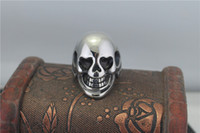 band code - USA cheap titanium steel casting skull ring the character code first fashion jewelry ring lenient STR121