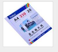 Expreso libre A4 (210 * 297 mm) 230g 20 hojas de papel fotográfico de alto brillo impermeable papel fotográfico Papel tinta, para una variedad de impresoras de inyección de tinta