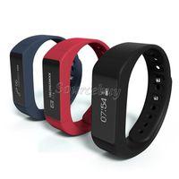 Bon Marché Système de commande de cellule-I5 Bracelet Smart Plus étanche Gesture Wristband Bluetooth4.0 Moniteur sommeil Smart Control Montre pour iOS Apple Android système de téléphone cellulaire