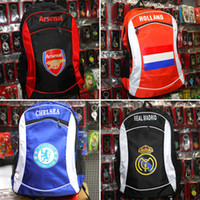 Wholesale 2016 men Outdoor Packs bags MaDrid Cristiano ronaldo Chelsea backpack school bags sports knapsack football fans clubs New laptop bag