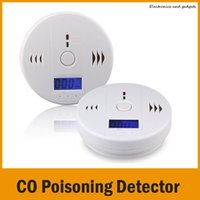 Wholesale 2015 HOT New Arrival LCD CO Carbon Monoxide Poisoning Sensor Monitor Alarm Detector White