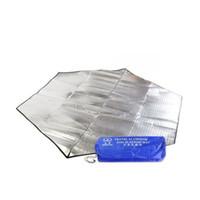 Moisture-proof pads aluminum floor mats - Outdoor Waterproof Hexagon Camping Mat Folding Sleeping Mattress Mat Pad Beach Tent Blanket Picnic Sleep Floor Pad Double Aluminum camp Pad