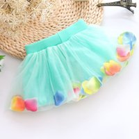 Wholesale New Han edition skirts short skirt of the girls The us net petals bright pearl bowknot baby cake skirt