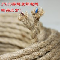 antique electrical wire - meter Vintage rope Twisted electric Wire Cable Retro Braided Electrical Wire antique Fabric cable clothing copper cWire
