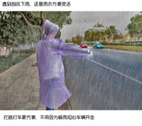 Wholesale PE film One time Siamese raincoats Travel Rain Coat