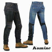Wholesale KOMINE PK719 summer motorcycle jeans breathable casual automobile man women pants With Protector Pad S XL