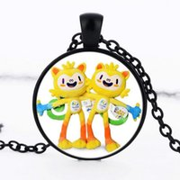 american trade school - 2016 summer foreign trade selling Brazilian Olympic Mascot Vinicius Necklace jewelry Children Birthday School Souvenir Gifts