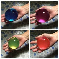 crystal water beads wholesale - Pearl Shape Very big mm Crystal Soil Water Beads Mud Grow Magic Jelly Ball Wedding Home decoration Dragon Balls