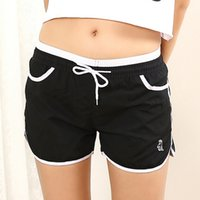 Wholesale Candy Colors Running Shorts For Women Summer Fashion Sport Drawstring Dry Quick Gym Fitness Female Pockets Shorts Mujer