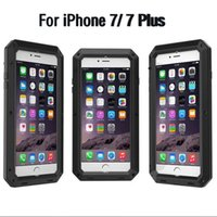 Cheap Luxury Doom armor Dirt Shock Waterproof Metal Aluminum phone bags case For iphone 7 5S 5 SE 4S 5C 6 6S Plus cover+Tempered glass
