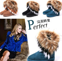 Wholesale 2017 New Women Autumn Winter Snow Boots Ankle Boots Warm Fur Shoes Flat Women s Snow Boots Colors XMAS gift