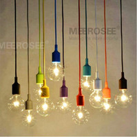 Wholesale Colorful Chandelier Light E27 Socket Suspension Drop Lamp Modern Vintage Edison Bulbs Bar Restaurant Bulb not included