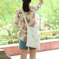 Wholesale Dual Purpose Printed Layers Canvas Cotton Linen Shopping Bag Straps Used as Cross Body Bags Shoulder Bag Messenger Bags Outdoor Bag