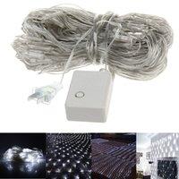 Vente en gros Nouveau 3m * 3m 400 Led Net Lights Lanterne Flasher Lampe Set Pêche Net Lampe Décoration de mariage de Noël 110V-220V