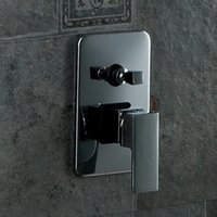 Wholesale BECOLA solid brass polished chrome In wall concealed bathroom shower panel handle control switch valve BR