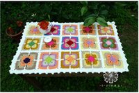 Wholesale Europe Bohemian national wind woolen yarn Heat pad Coaster table cover Table mat tableware mat Hand made ixed style cheap