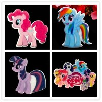 Wholesale Pink Pony Rainbow Pony Planar Twilight Sparkle Resin Cabochon Flat Back Scrapbooking Princess Pet Flatback Hair Bow Center