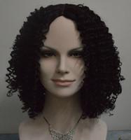 Pelucas cortas para las mujeres negras Pelucas baratas para las mujeres resistentes al calor Pixie Cut Ninguno Pelucas del cordón rizado Rihannas Hairstyle Máquina que hace la peluca