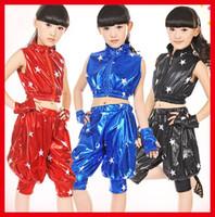 Wholesale 10pcs Gorgerous Children Stage Performance Wear Modern Dancing Suits Clothes Kids Boys Girls Jazz Hip Hop Dance Costumes