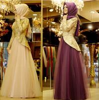 abayas kaftans - 2016 peplum evening dresses hijab set arabic kaftans dresses dubai abayas muslim evening gowns islamic clothing