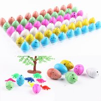 Wholesale 60pcs Colorful Magic Water Growing Egg Children Hatching Add Cracks Grow Game For Kids Tots Boys Gadget toys