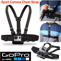 Wholesale GoPro Accessories Adjustable Chest Strap Belt Mount Harness for GoPro Hero SJCAM SJ4000 SJ5000 Action Sport Camera HD