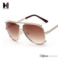 aviator coats - New Fashion Women Aviator Sunglasses Men brand designer Metal Frame Sunglasses Driving Coating Mirror Lens Oculos de sol
