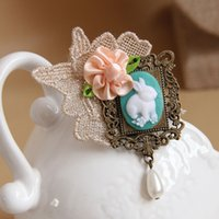 asian style bags - 18 kinds of style optional Handmade retro lace flowers rabbit brooch bag hanging hat ornaments