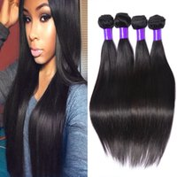 belle color - 8A Brazilian Virgin Hair Straight Bundles Brazilian Straight Hair Weave Bundles Unprocessed Hair Weave Belle Queen Hair Products