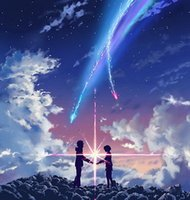 anime art fantasy - A820 Your Name Makoto Niitsu Dream Fantasy Japan Anime Art Silk Poster x24inch