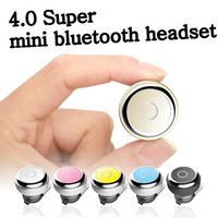 Wholesale 4 wireless mini bluetooth headset microphone for IPhone hands free CSR bluetooth headset noise reduction samsung millet smartphone