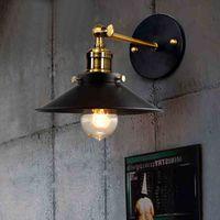 antique wall scones - Vintage industrial scone bedroom wall light E27 plated loft American retro vintage iron wall lamp W Antique wall light