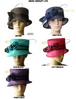 Wholesale BY EMS Simple Sinamay Church Dress Hat Formal Hat Wedding Hat for Kentucky Derby Church Party can pick the color