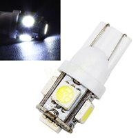 Wholesale 10x T10 W5W Degree Wedge SMD LED Bulb XENON WHITE Car Tail light HA10686