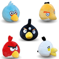 angry of birds - 2016 Hot Sale inch Angry Bird Plush Doll Toys Angry Red The Blues Chuck Bomb Matilda Bird Plush Doll Set Of