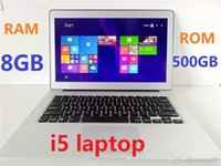 Wholesale 13 inch ultrabook notebook computer Intel core i5 laptop with GB DDR3 GB SSD WIFI HDMI High Quality cheap DHL