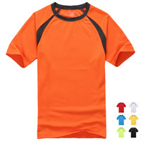 Wholesale New Fashion Sport T Shirt High Wicking Quick Drying Short Sleeve Lightweight Splice bright colors Sizes