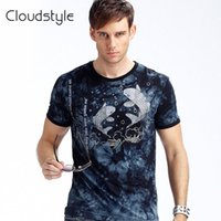 Cheap l0330 2016 Chinese style men's short sleeve T-shirt modal carp 3D t shirt tie-dye t-shirt in Europe and America Slim Men HT-1306