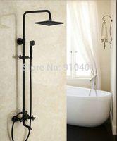 Wholesale Oil Rubbed Bronze Wall Mounted Rain Shower Faucet Set quot quot quot quot Head W Tub Mixer Tap